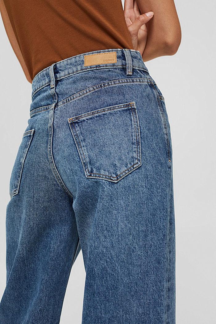 Jean à jambes larges , 100% coton biologique, BLUE MEDIUM WASHED, detail image number 5