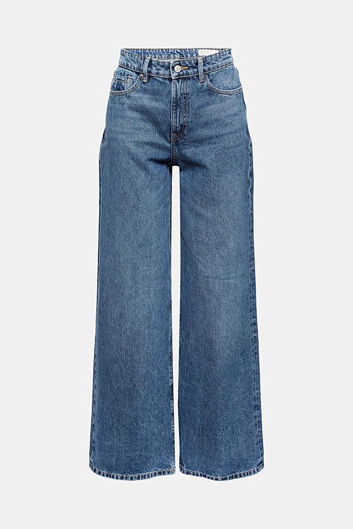 Jeans met wijde pijpen, 100% biologisch katoen
