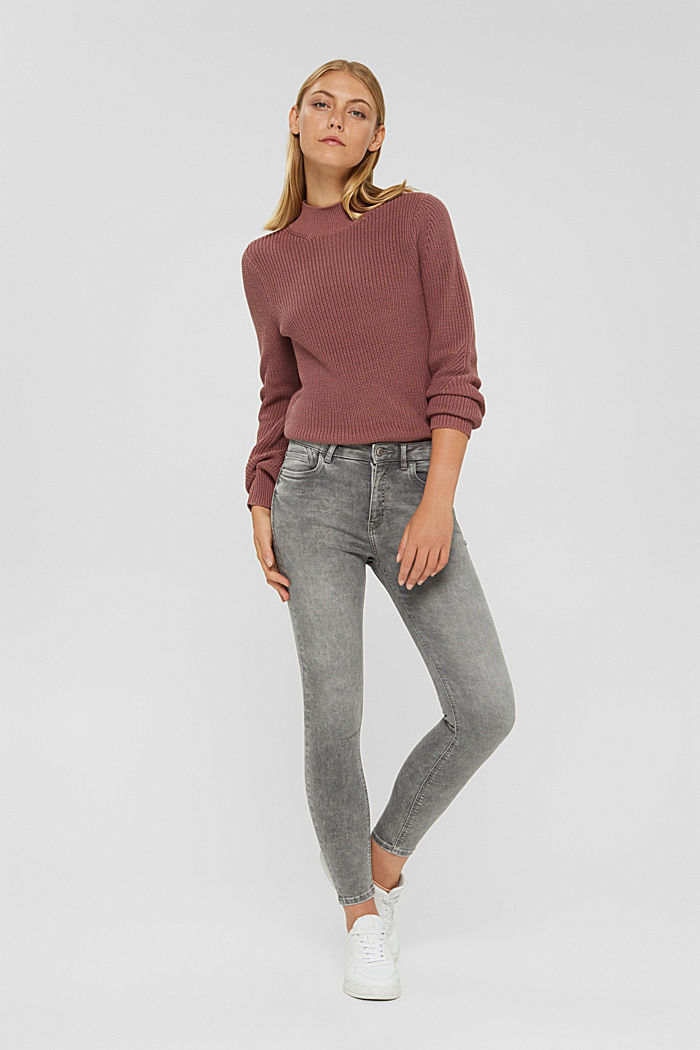 Superstretch-Jeans mit Trend-Waschung, GREY MEDIUM WASHED, detail image number 1