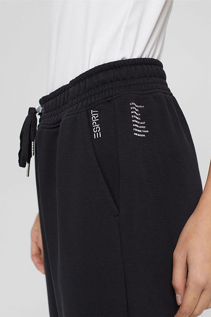 Extra zachte sweatbroek met biologisch katoen, BLACK, detail image number 2