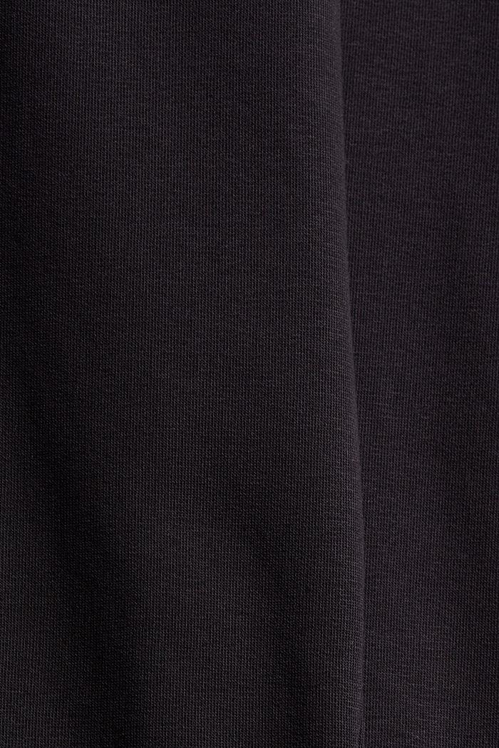 Extra zachte sweatbroek met biologisch katoen, BLACK, detail image number 4