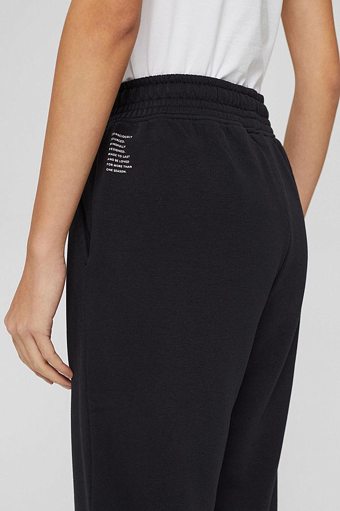 Extra zachte sweatbroek met biologisch katoen, BLACK, detail image number 5
