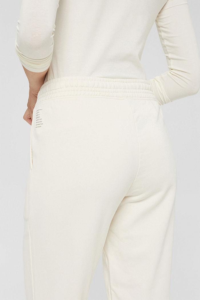 Extraweiche Sweathose mit Bio-Baumwolle, OFF WHITE, detail image number 5