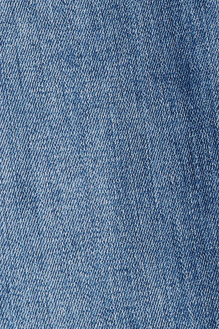 Jean taille haute à détails usés, BLUE MEDIUM WASHED, detail image number 4