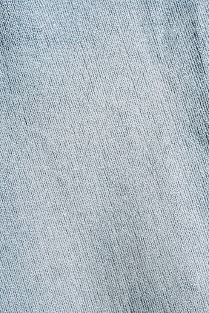 High-rise jeans with a vintage finish, BLUE LIGHT WASHED, detail image number 4