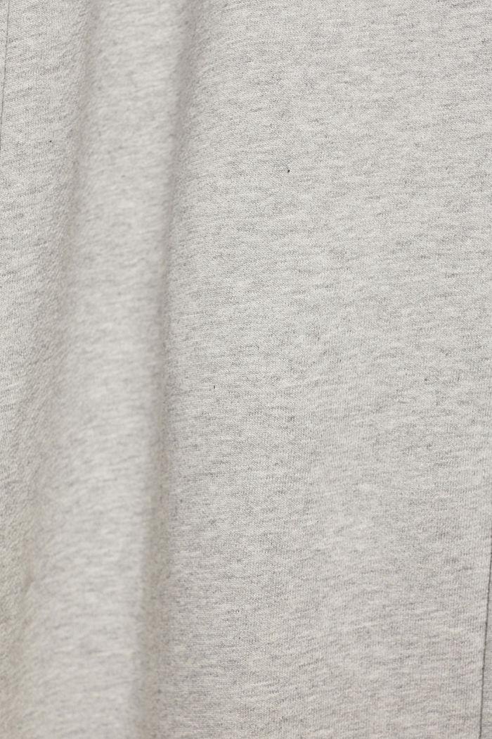 Sweatbroek met wijde pijpen, 100% katoen, LIGHT GREY, detail image number 4