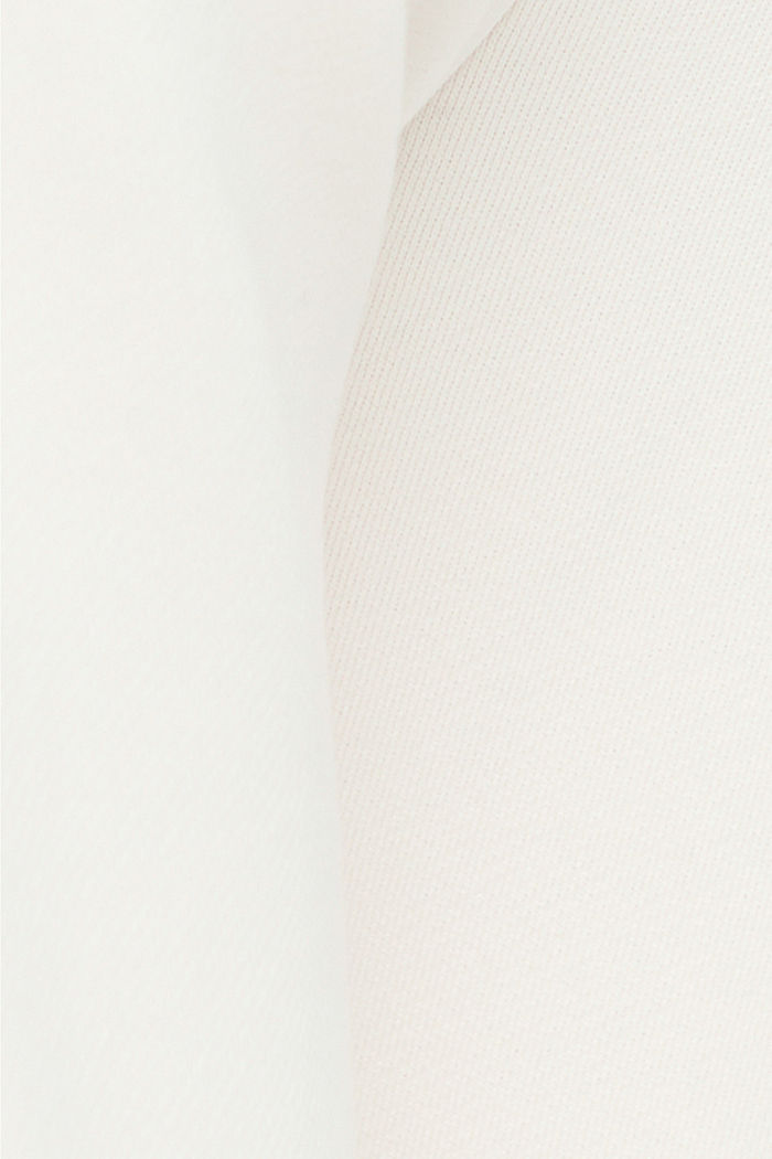 Tracksuit bottoms with a wide leg, 100% cotton, OFF WHITE, detail image number 4