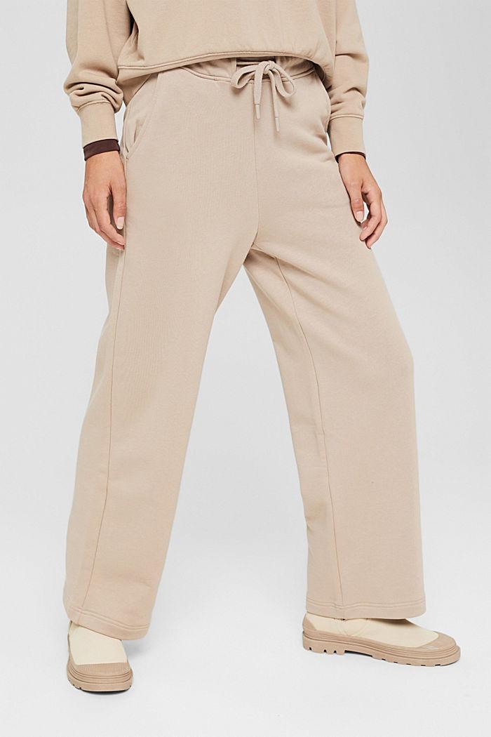 Sweathose mit weitem Bein, 100% Baumwolle, LIGHT TAUPE, detail image number 0