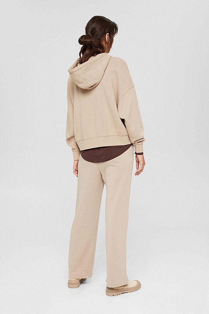Sweathose mit weitem Bein, 100% Baumwolle, LIGHT TAUPE, detail image number 3