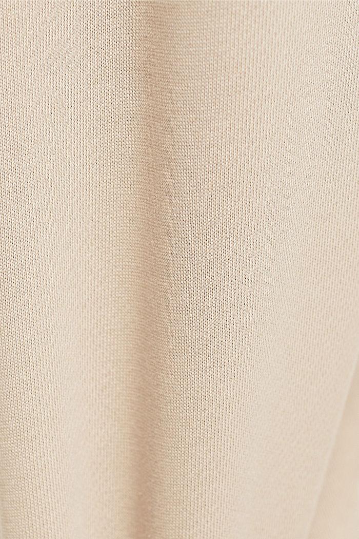 Sweathose mit weitem Bein, 100% Baumwolle, LIGHT TAUPE, detail image number 4