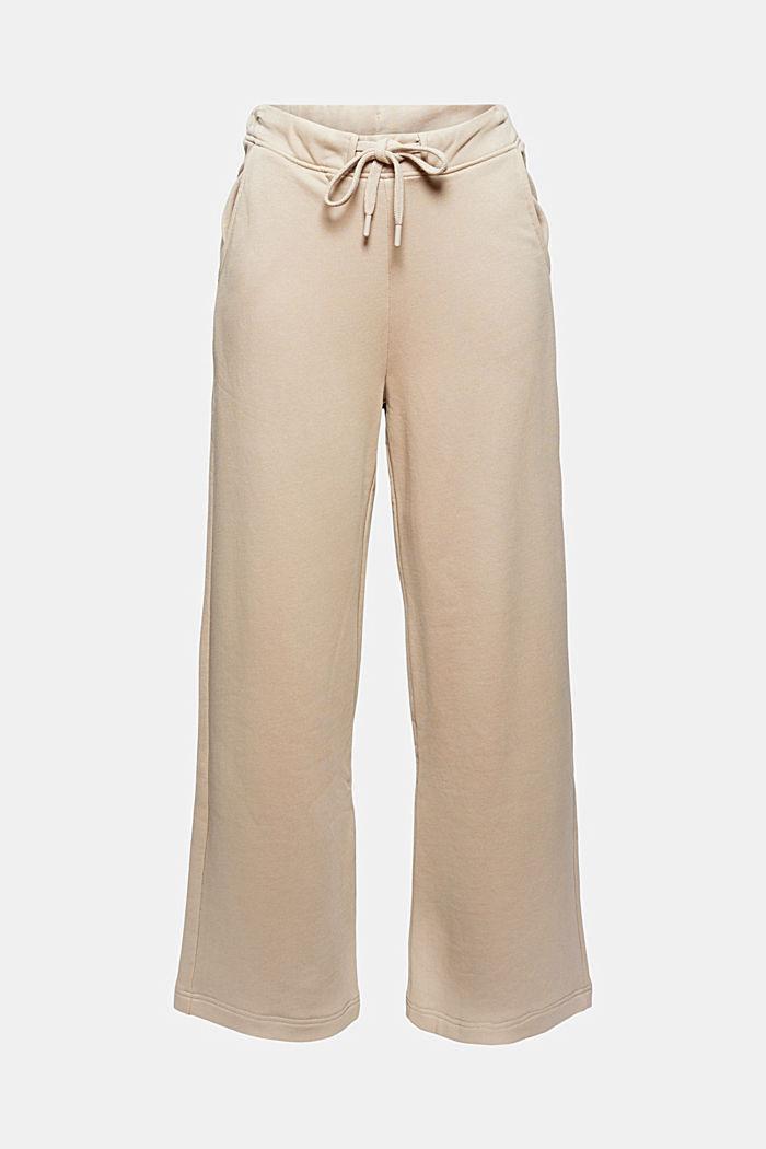Spodnie z dzianiny dresowej z szerokimi nogawkami, 100% bawełny