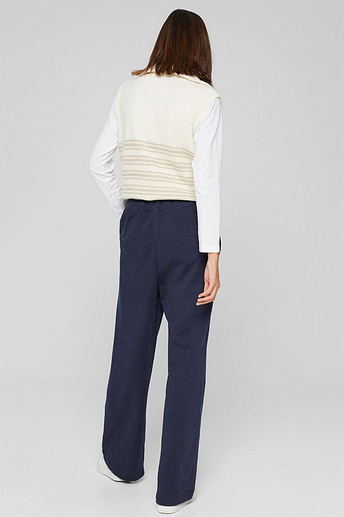 Sweathose mit weitem Bein, 100% Baumwolle, NAVY, detail image number 3