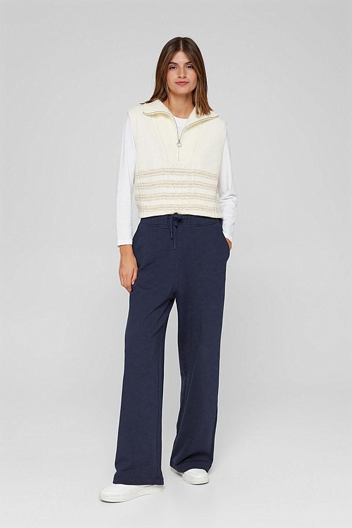 Sweathose mit weitem Bein, 100% Baumwolle, NAVY, detail image number 5