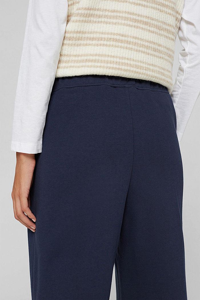 Sweathose mit weitem Bein, 100% Baumwolle, NAVY, detail image number 2