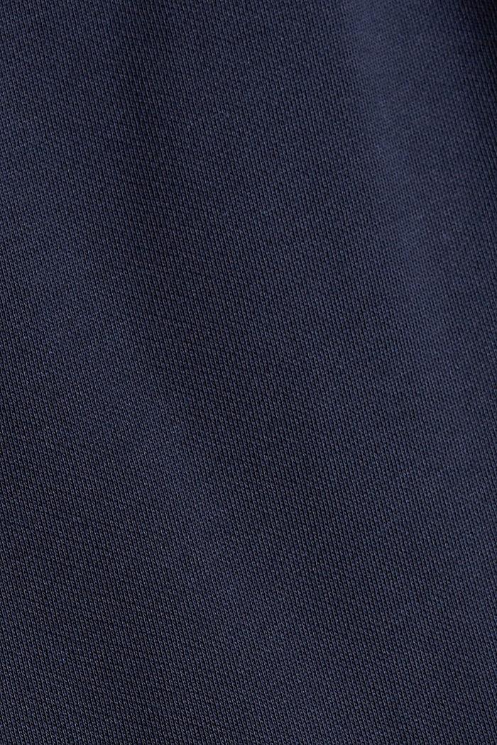 Sweathose mit weitem Bein, 100% Baumwolle, NAVY, detail image number 4