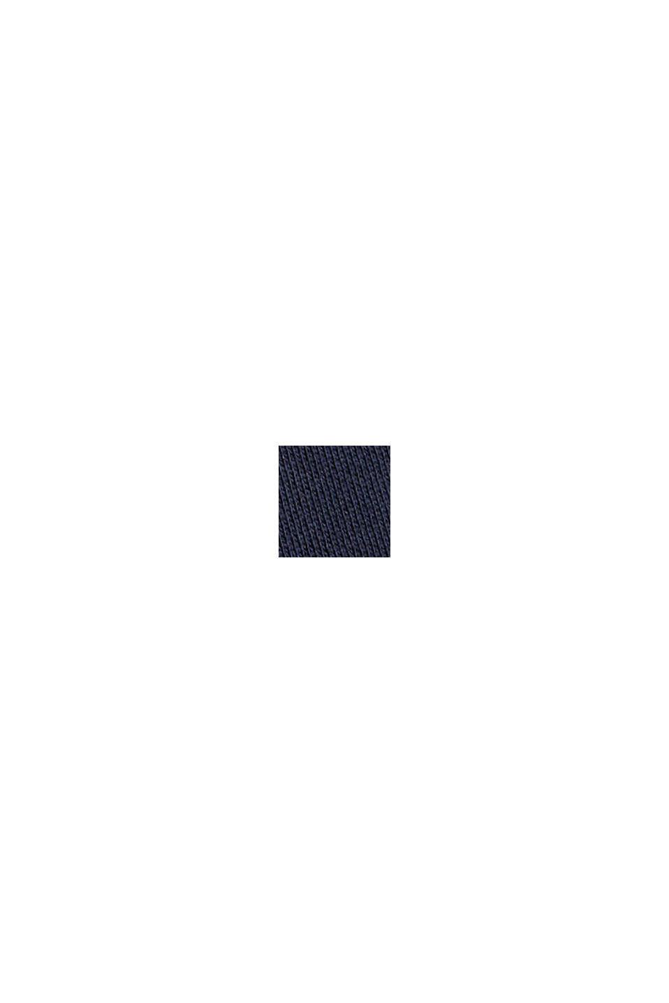 Spodnie z dzianiny dresowej z szerokimi nogawkami, 100% bawełny, NAVY, swatch