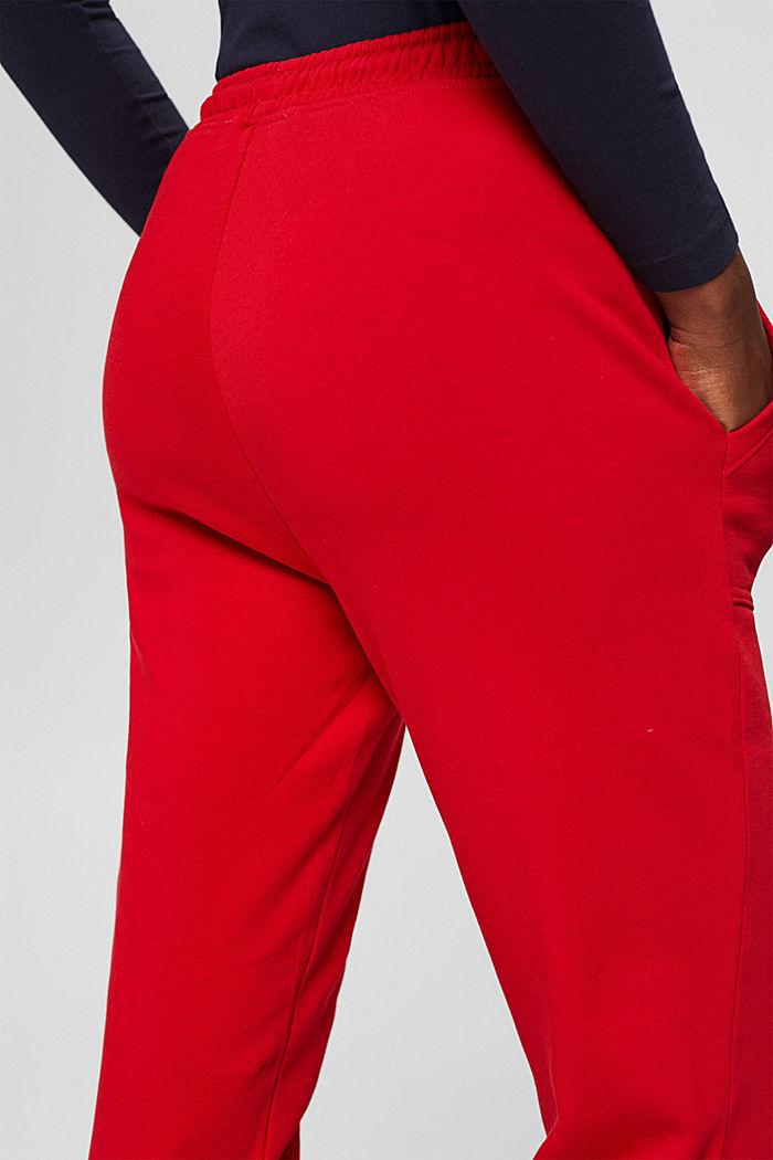 Sweatbroek in jogger-stijl, organic cotton, RED, detail image number 5
