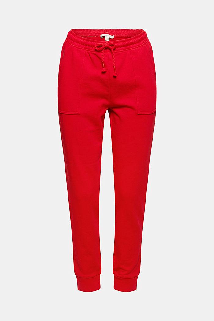 Spodnie dresowe w stylu joggerów, bawełna organiczna