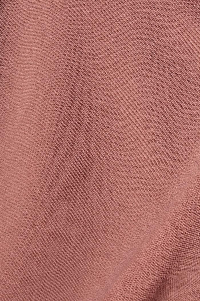 Sweatbroek in jogger-stijl, organic cotton, DARK OLD PINK, detail image number 4
