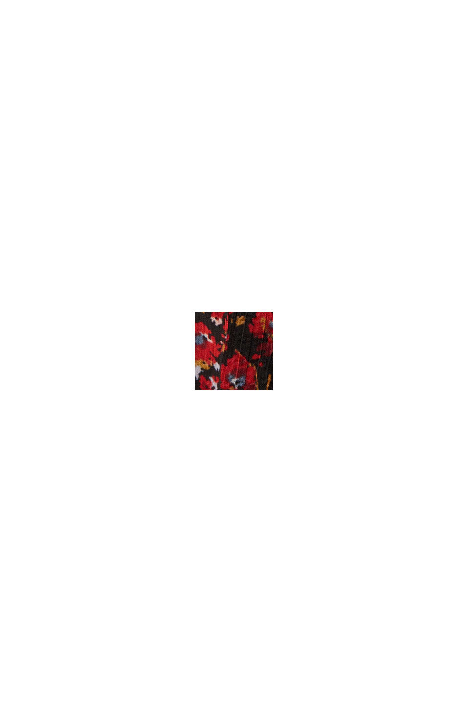 Minigonna in chiffon con stampa millefiori, BLACK, swatch