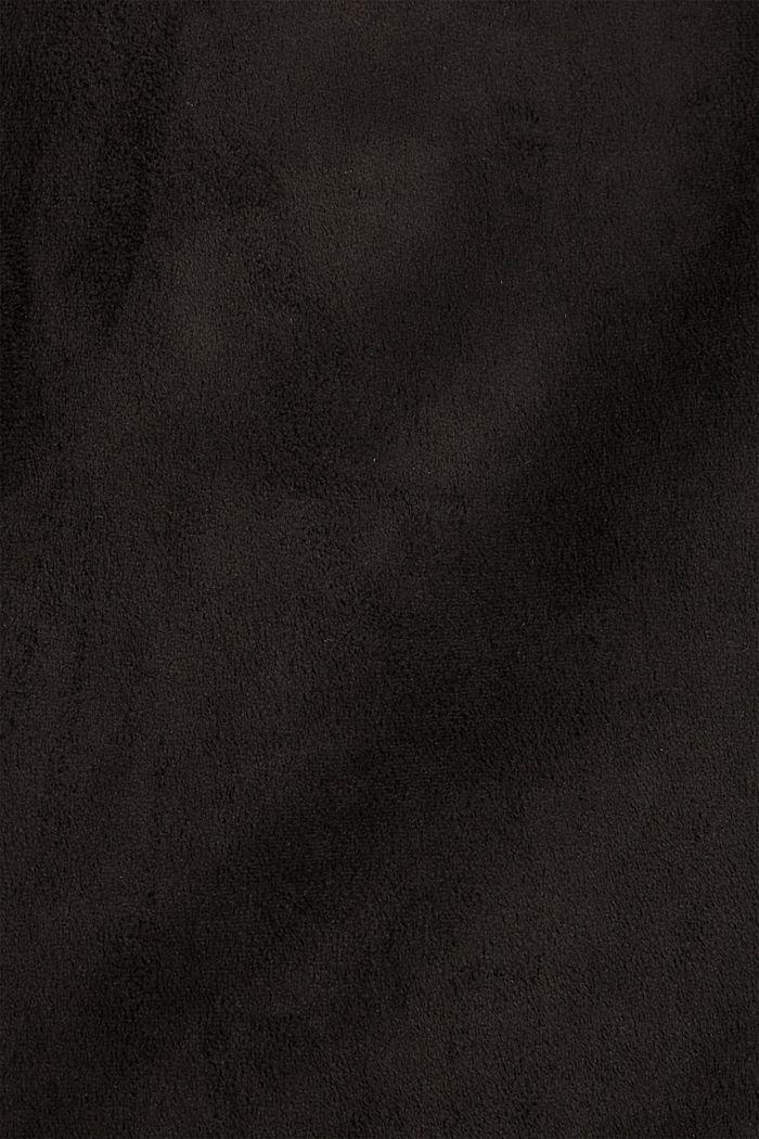 Faux suede mini skirt, BLACK, detail image number 4