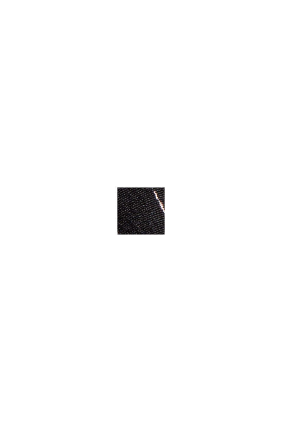 Tailliertes Flower-Kleid mit LENZING™ ECOVERO™, BLACK, swatch