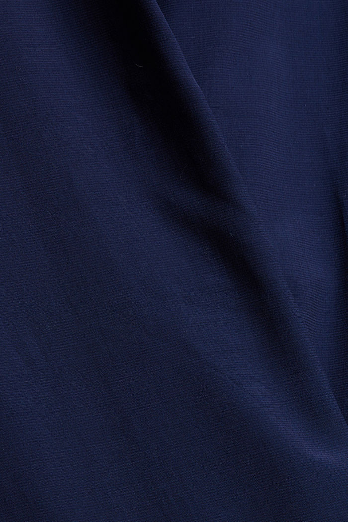 Blusenkleid mit Gürtel, LENZING™ ECOVERO™, NAVY, detail image number 4
