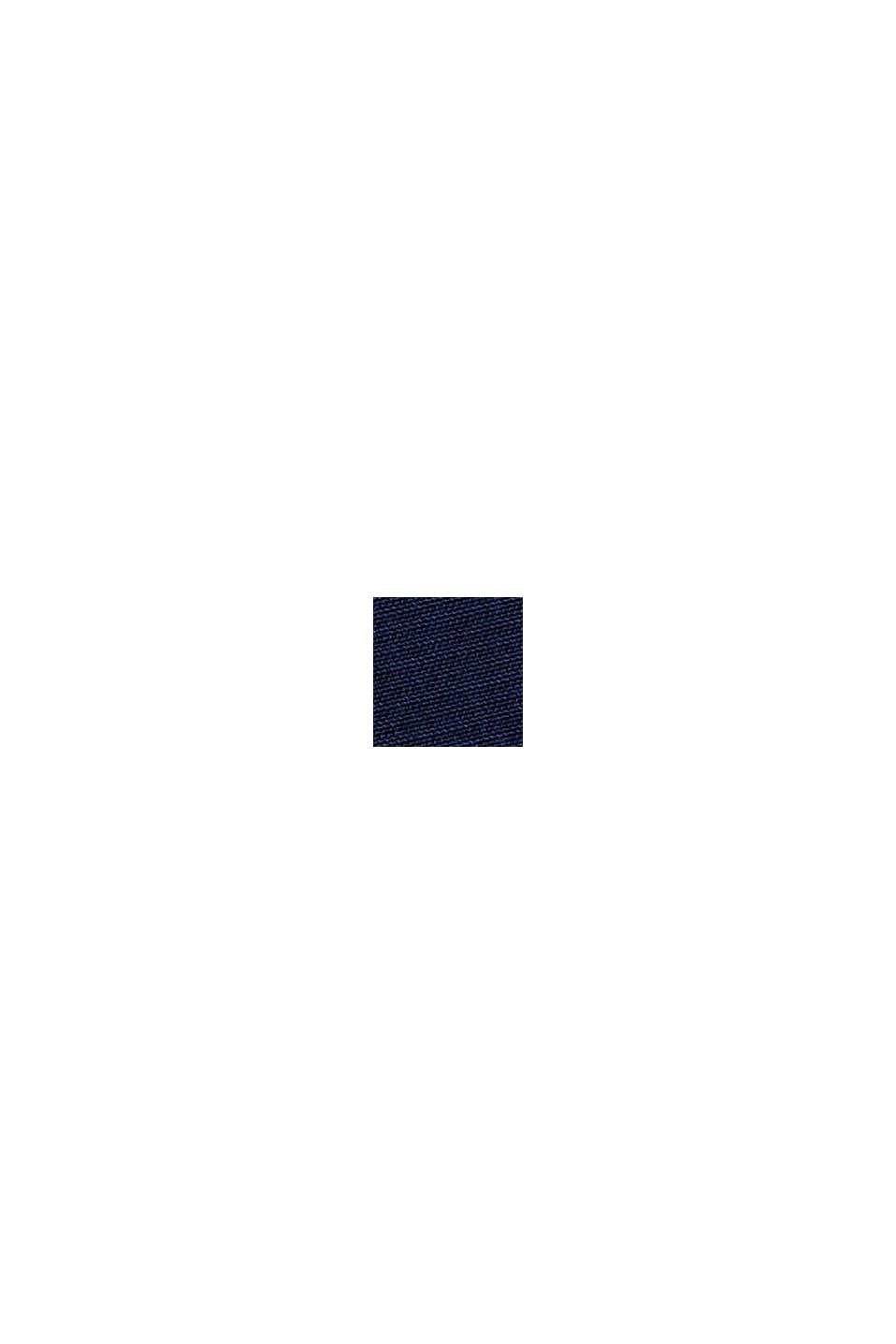 Blusenkleid mit Gürtel, LENZING™ ECOVERO™, NAVY, swatch