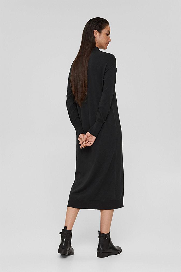 Robe-pull en coton mélangé, BLACK, detail image number 2