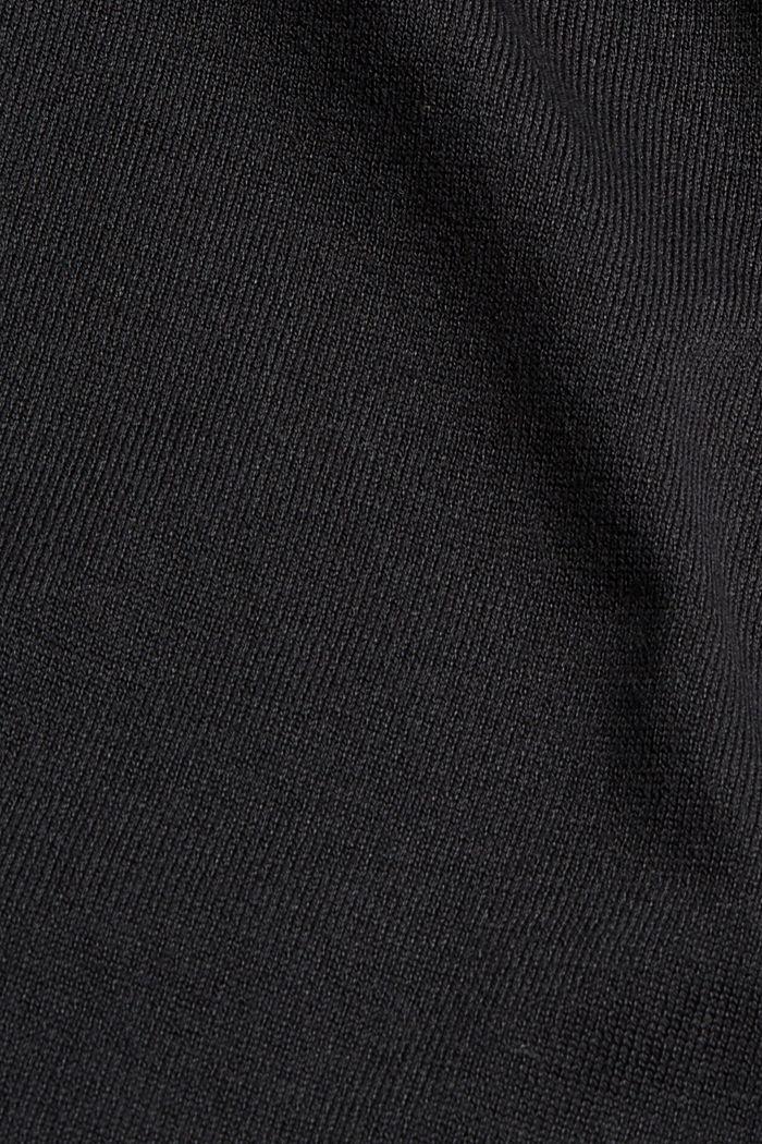 Robe-pull en coton mélangé, BLACK, detail image number 4