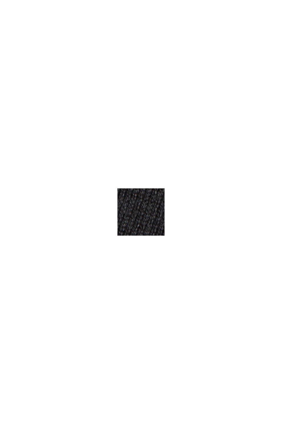 Strickkleid aus Baumwoll-Mix, BLACK, swatch