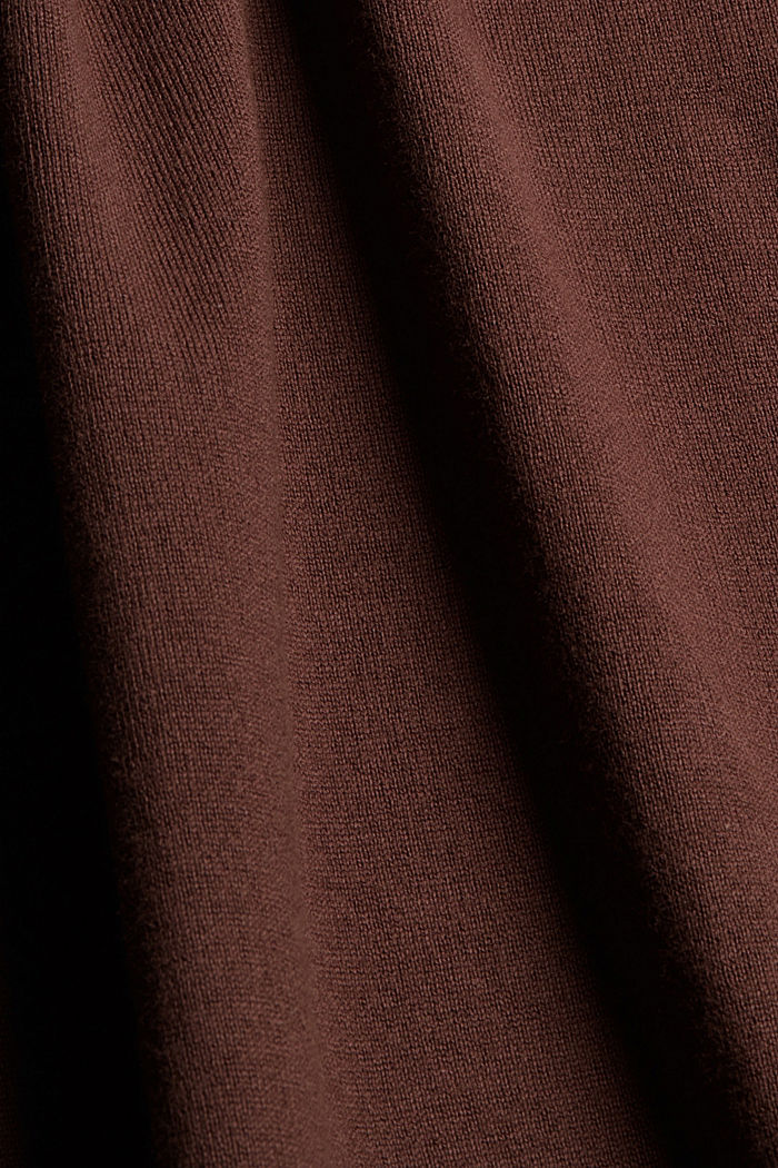 Strickkleid aus Baumwoll-Mix, RUST BROWN, detail image number 4