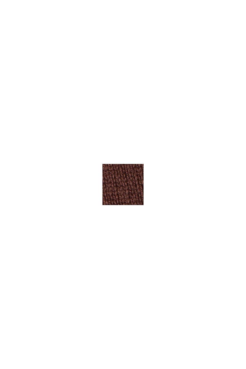 Vestido de punto en mezcla de algodón, RUST BROWN, swatch