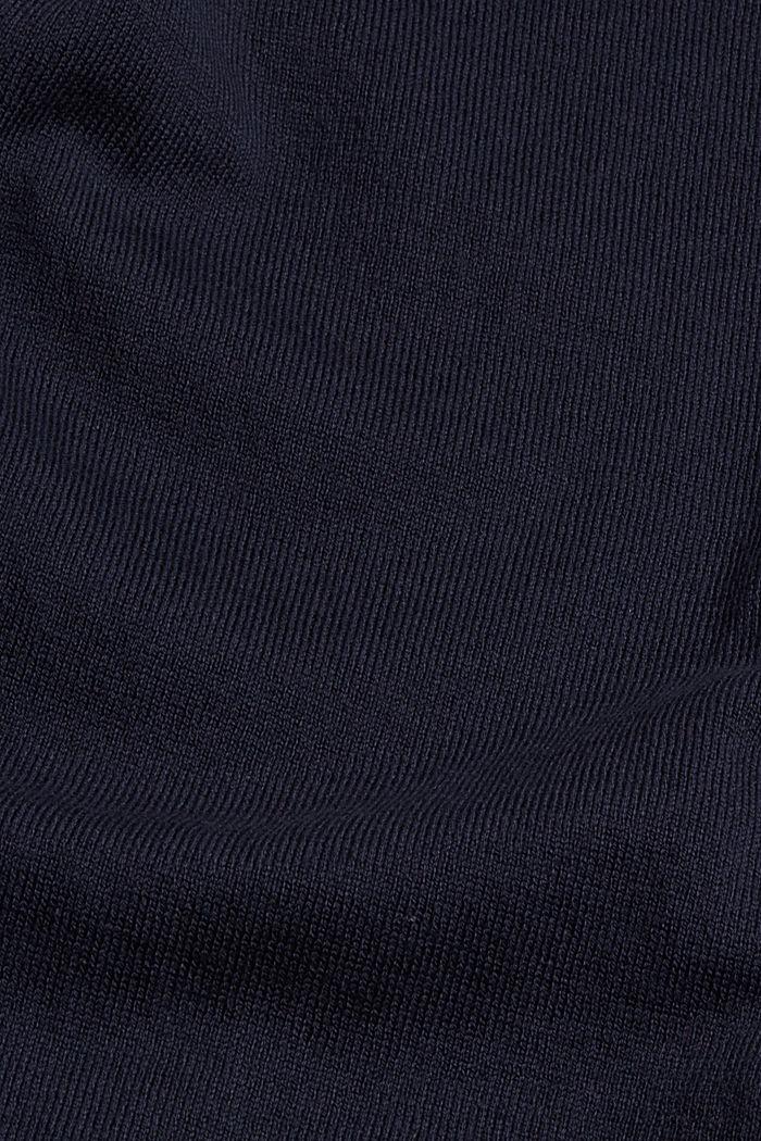 Robe-pull en coton mélangé, NAVY, detail image number 4