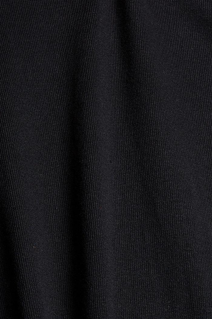 Strickkleid aus Baumwoll-Mix, BLACK, detail image number 4