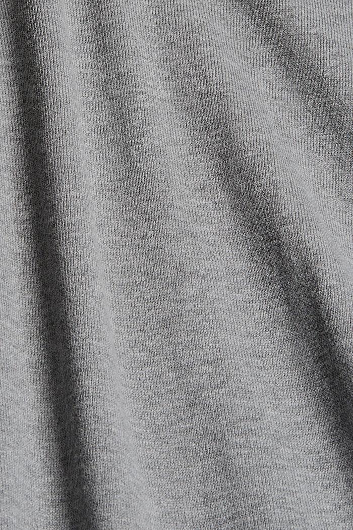 Strickkleid aus Baumwoll-Mix, MEDIUM GREY, detail image number 4