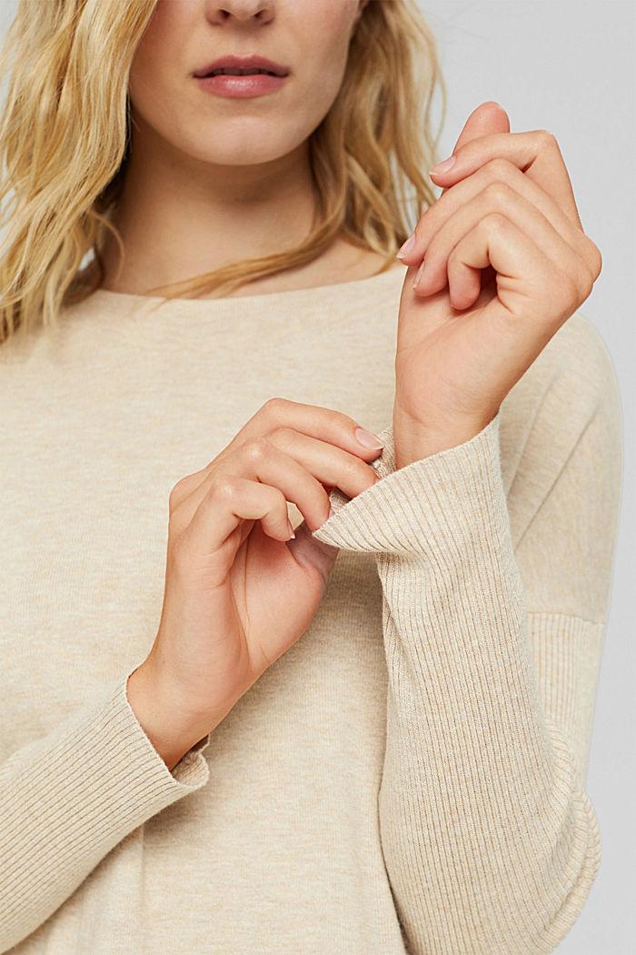 Robe-pull en coton mélangé, SAND, detail image number 3
