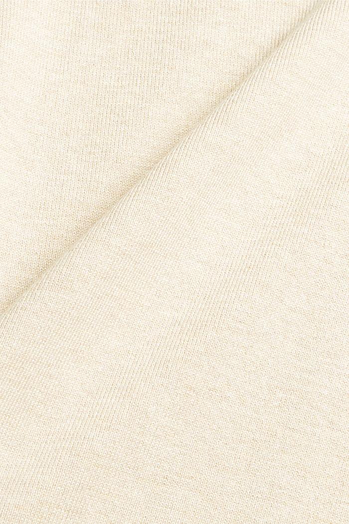 Robe-pull en coton mélangé, SAND, detail image number 4
