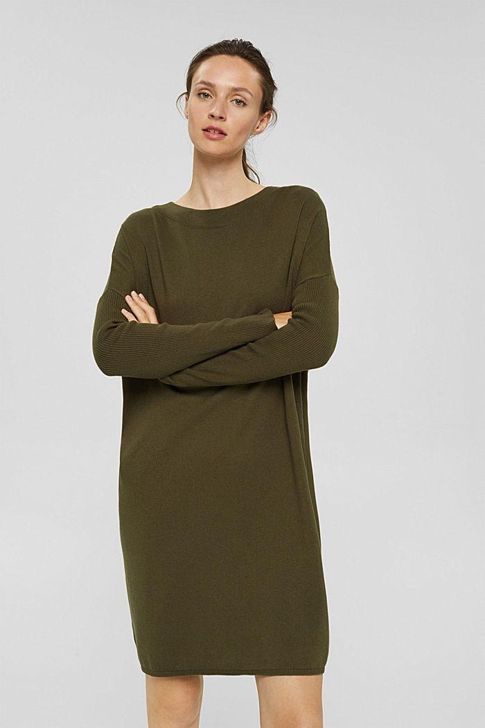 Strickkleid aus Baumwoll-Mix
