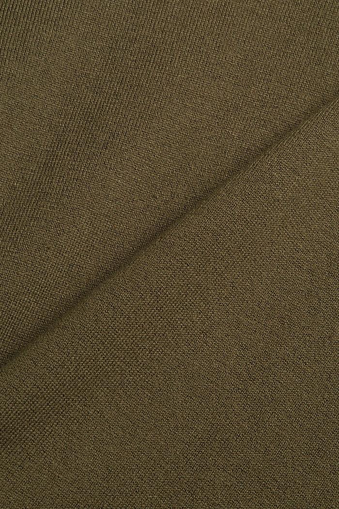 Robe-pull en coton mélangé, DARK KHAKI, detail image number 4