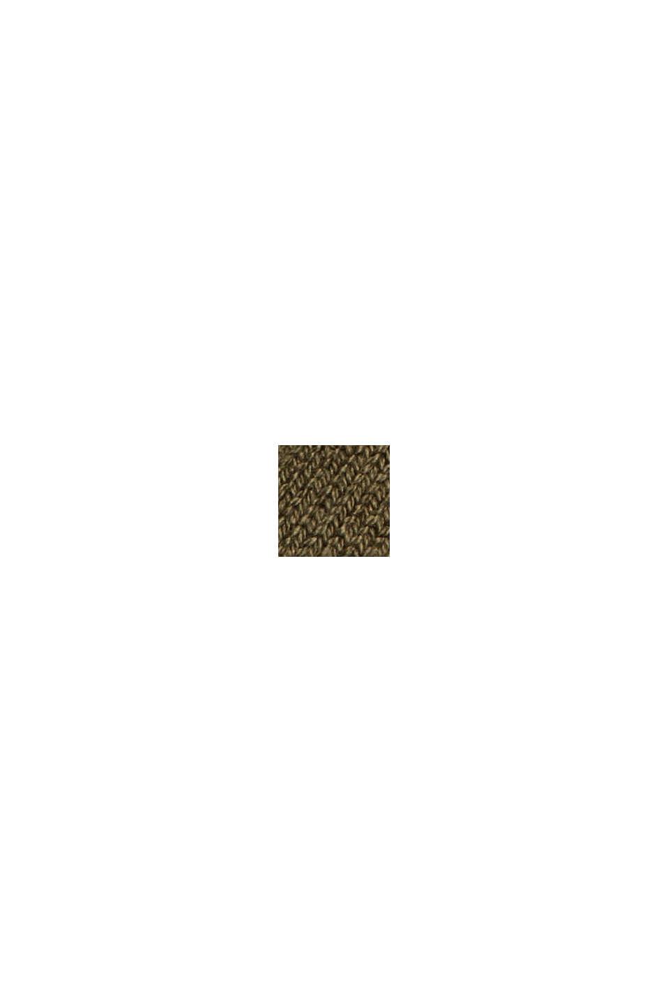 Strickkleid aus Baumwoll-Mix, DARK KHAKI, swatch