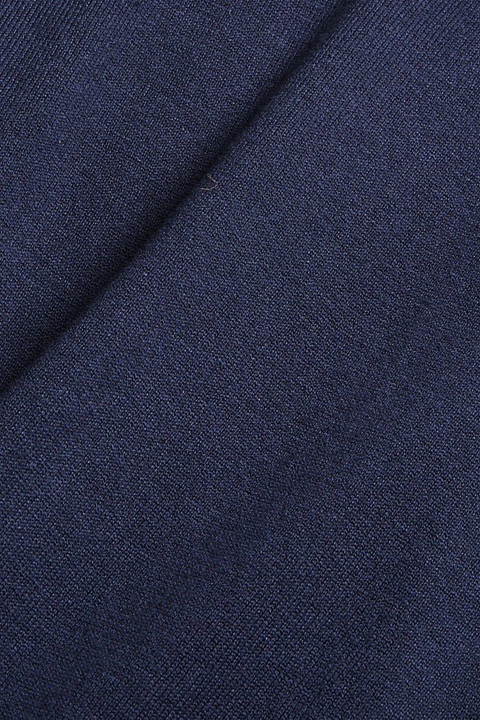 Knitted dress in blended cotton, NAVY, detail image number 4