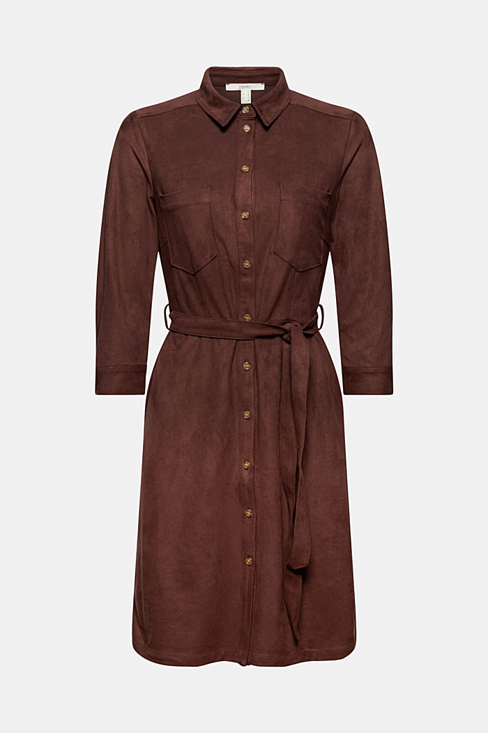 Recycled: faux leather shirt dress