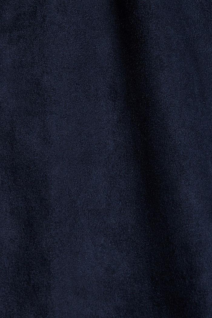 Recycelt: Hemdblusenkleid in Lederoptik, NAVY, detail image number 4