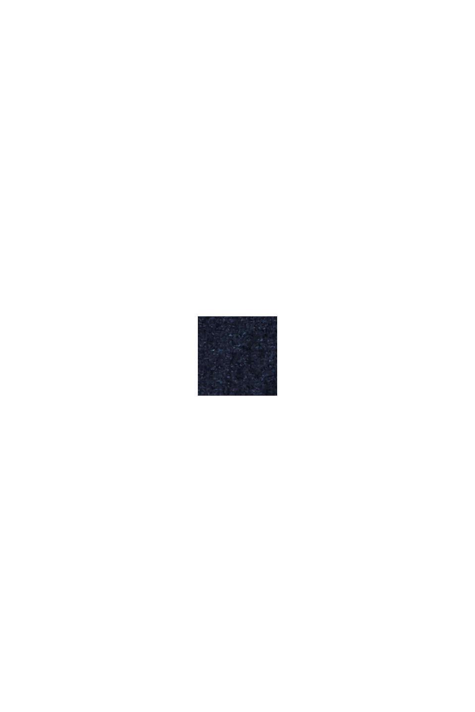 Recycelt: Hemdblusenkleid in Lederoptik, NAVY, swatch