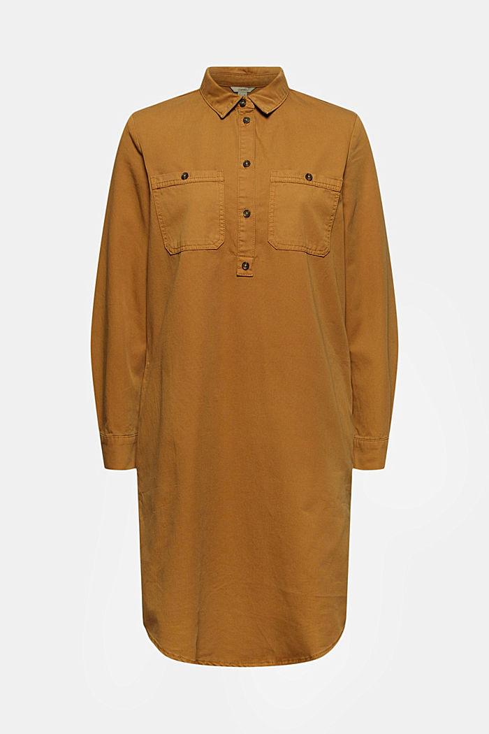 Hemdblusenkleid aus 100% Pima Baumwolle
