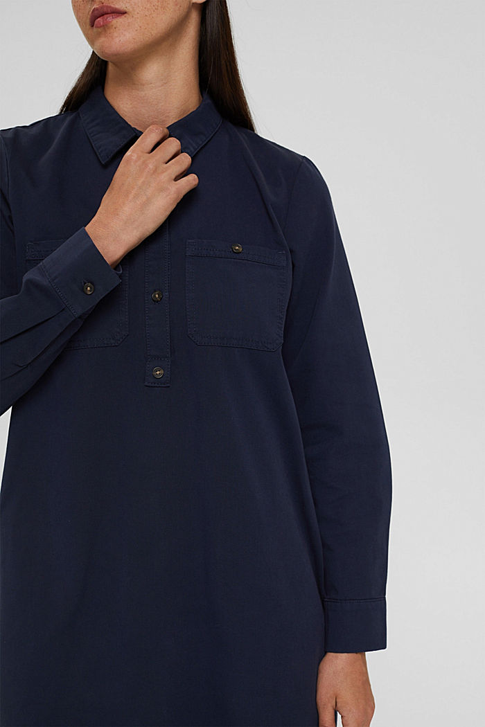 Shirt dress made of 100% Pima cotton, NAVY, detail image number 2