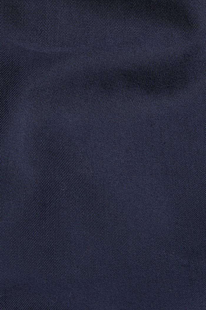 Shirt dress made of 100% Pima cotton, NAVY, detail image number 4