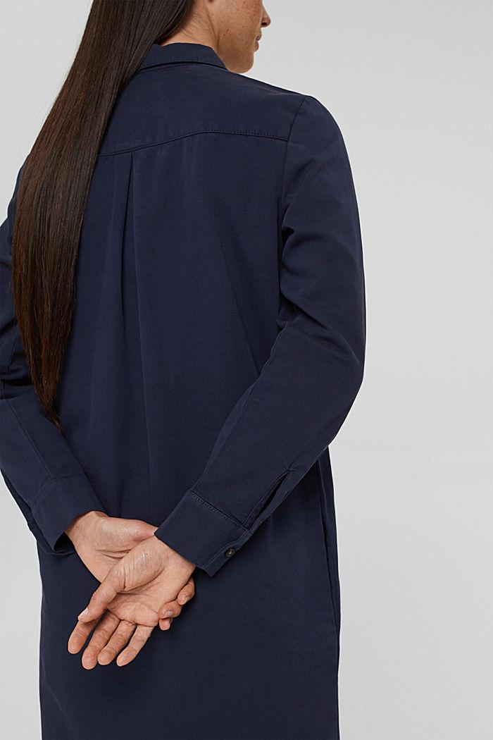 Shirt dress made of 100% Pima cotton, NAVY, detail image number 5