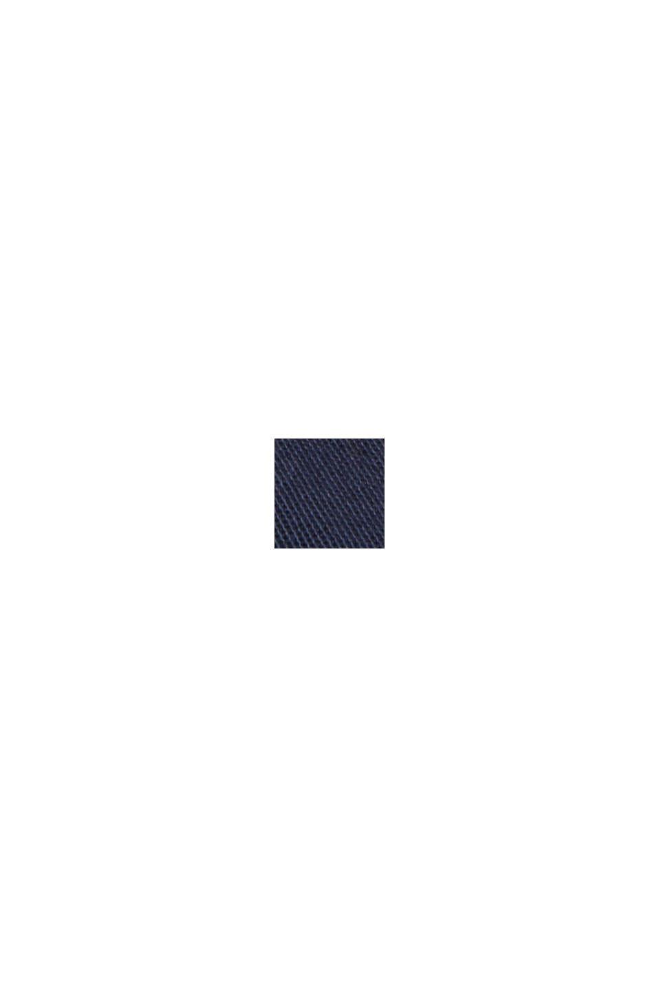Hemdblusenkleid aus 100% Pima Baumwolle, NAVY, swatch